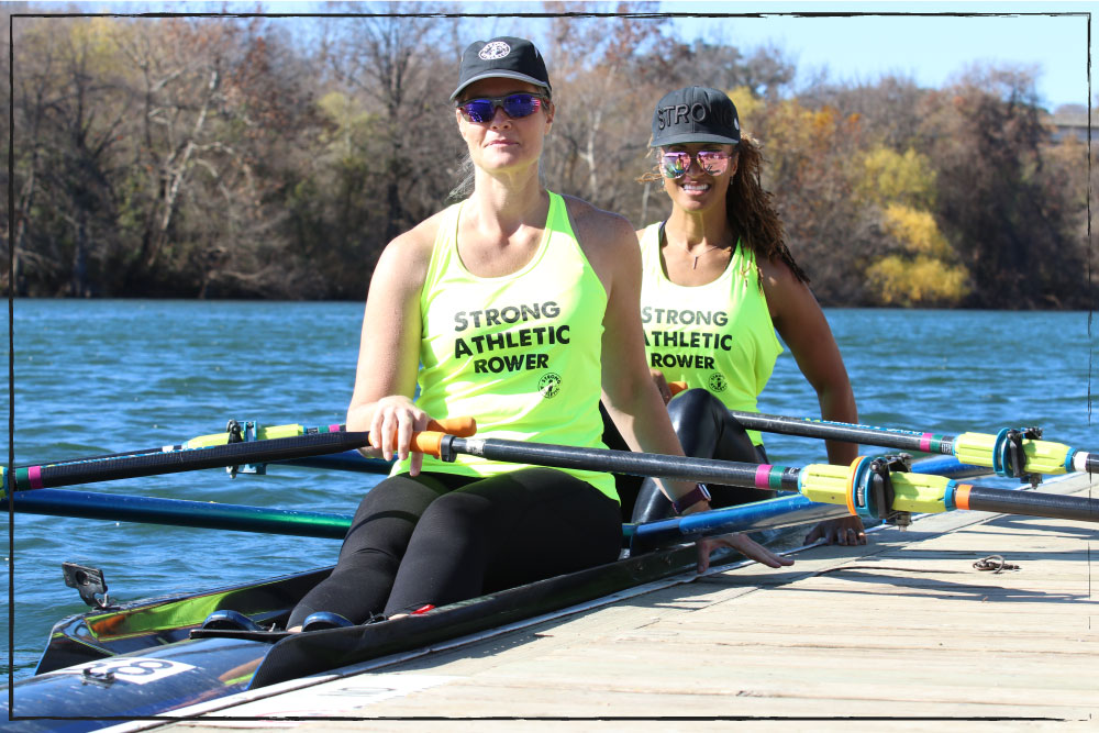 Strong Athletic Rower Tanks, Neon Yellow High Visibility Shirts to Wear While Rowing on the Water